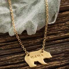Mama Bear Gold Necklace