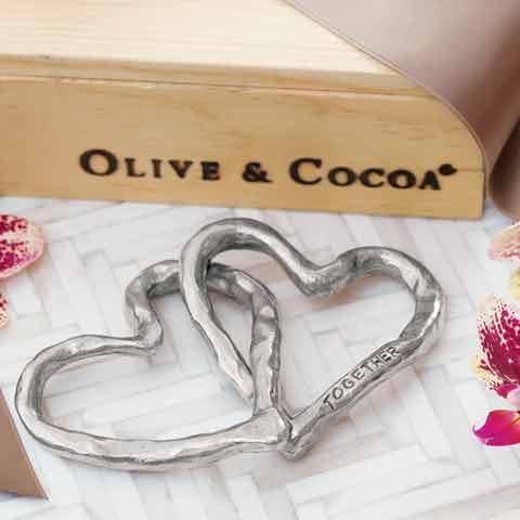Eternally Linked Hearts Sculpture