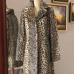 Faux Leopard Stroller Coat