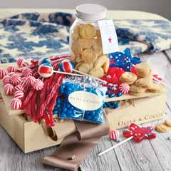Red White & Blue Sweets Crate