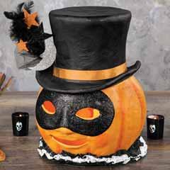Masquerade Lit Pumpkin