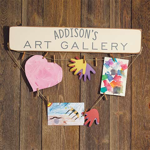 Family Art Gallery Sign