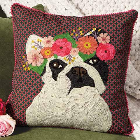 Flower Crown Fifi Pillow