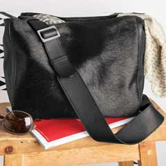 Midnight Leather & Hide Bag