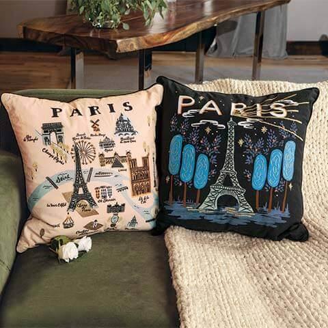Bonjour & Bonne Nuit Pillow Set