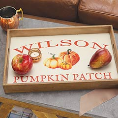 Pumpkin Patch Personalized Tray