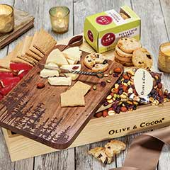 Woodland Serving Board & Snacks