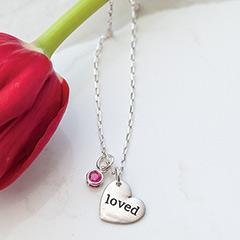 """""""Loved"""" Garnet Necklace"""
