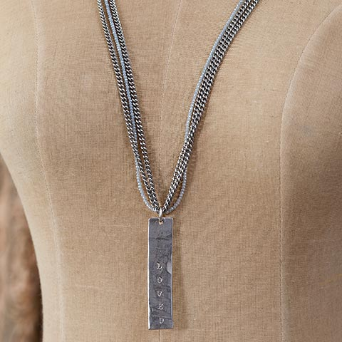 "Moonstruck ""Loved"" Necklace"
