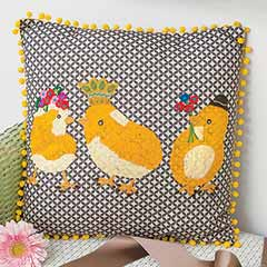 Chic Chicks Pillow