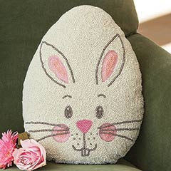 Easter Bunny Beaded Pillow