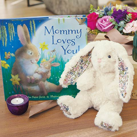 """""""Mommy Loves You"""" Bunny & Storybook"""