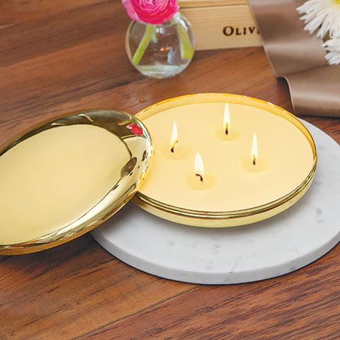 Mod Gilt Candle