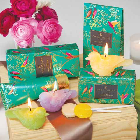 Teal Birds Spa Crate