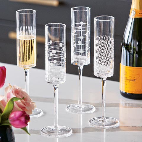 Art Deco Champagne Flutes