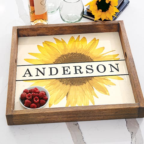 Sunflower Personalized Tray