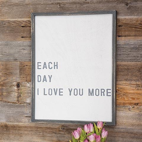 """""""Love You"""" Framed Art"""