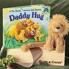 """Daddy Hug"" Storybook & Lion"