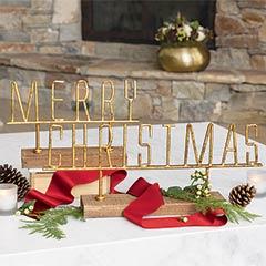 """Gilt """"Merry Christmas"""""""