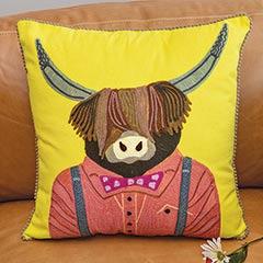 Preppy Yak Pillow