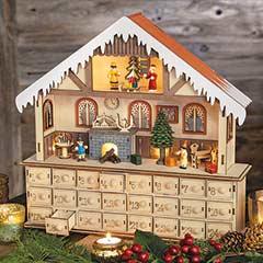 Chalet Lit Advent Calendar