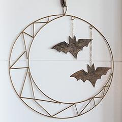 Bat & Luna Wreath