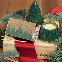 Festive Tree Candle Set