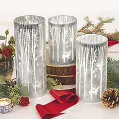 Illuminated Snowy Pillars