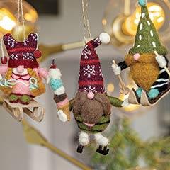 Gnome Ornament Trio