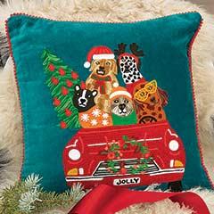 Holiday Joyride Pillow