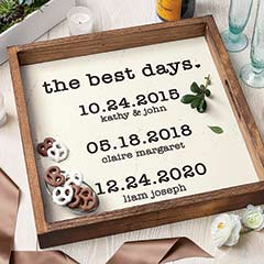 The Best Days Personalized Tray