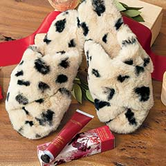 Leopard Slippers & Lotion