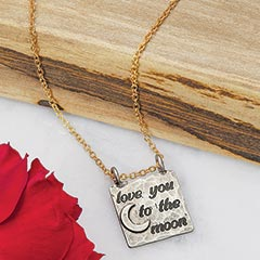 To The Moon Pendant Necklace
