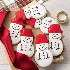 Twelve Snowman Cookies