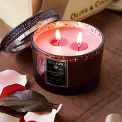 Champagne Rose Candle