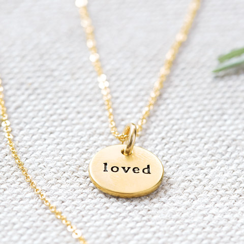 """""""Loved"""" Circle Necklace"""
