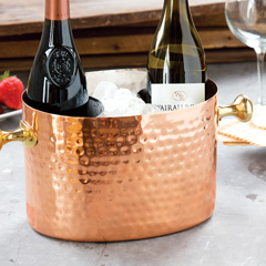 Hammered Copper Wine Caddy