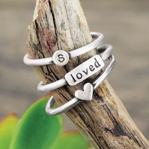 Silver Memory Rings