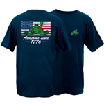 Peace Frogs Awesome Since 1776 Flag Short Sleeve T-Shirt