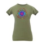 Peace Frogs Junior Good Karma Frog Vintage Heathered Short Sleeve T-Shirt
