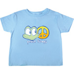 Peace Frogs Happy Frog Toddler Short Sleeve T-Shirt