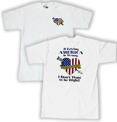 Peace Frogs Adult Loving America Short Sleeve T-Shirt