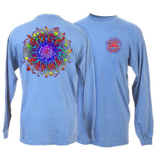 Peace Frogs Carolina Blue Good Karma Adult Long Sleeve T-Shirt