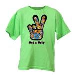 Peace Frogs Get A Grip Short Sleeve Kids T-Shirt