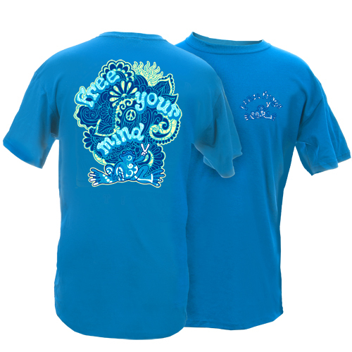 Peace Frogs Adult Free Your Mind Short Sleeve T-Shirt