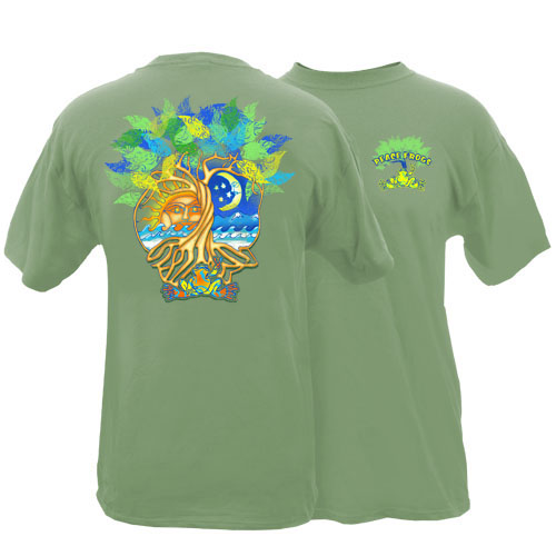 Peace Frogs Adult Sun Moon Tree Short Sleeve T-Shirt