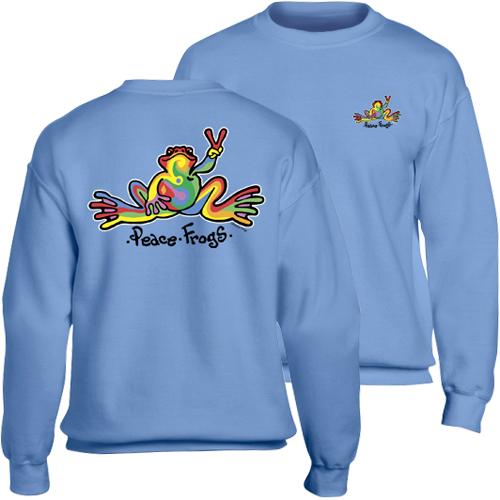 Peace Frogs Retro Adult Crewneck Sweatshirt
