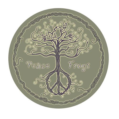 Peace Frogs Wild Tree Sticker