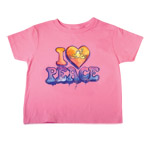 I Heart Peace Frogs Toddler Short Sleeve T-Shirt