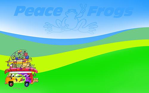"""""""Braking Away"""" - Peace Frogs Free Wallpaper Download"""